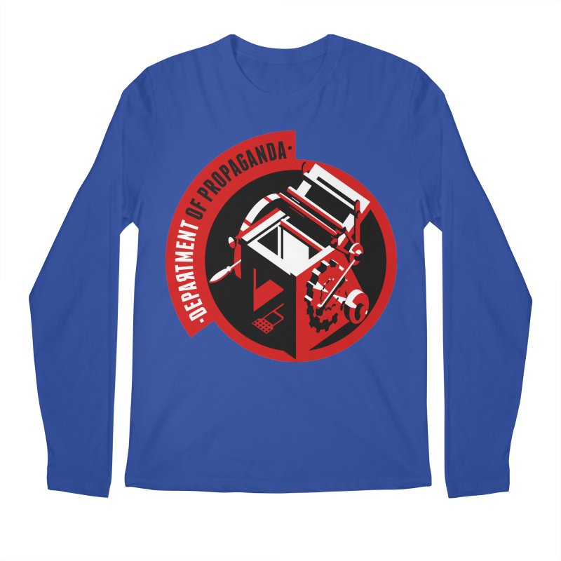 Department of Propaganda Printing Press Men's Regular Longsleeve T-Shirt by Propaganda Department