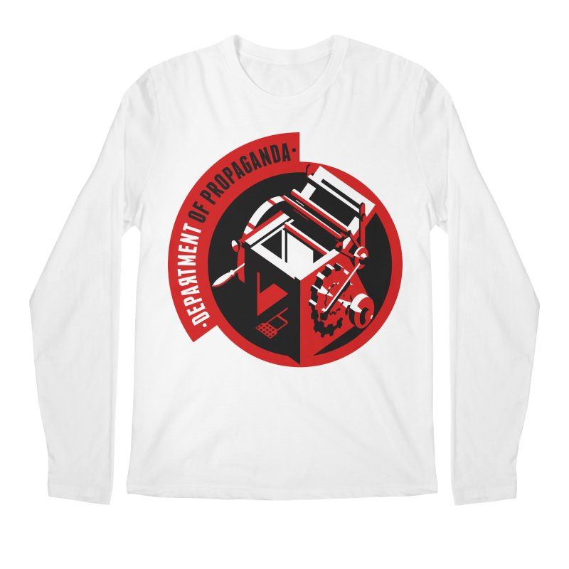 Department of Propaganda Printing Press Men's Regular Longsleeve T-Shirt by Propaganda Department