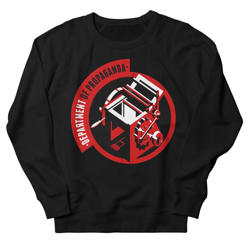 Department of Propaganda Printing Press Men's French Terry Sweatshirt by Propaganda Department