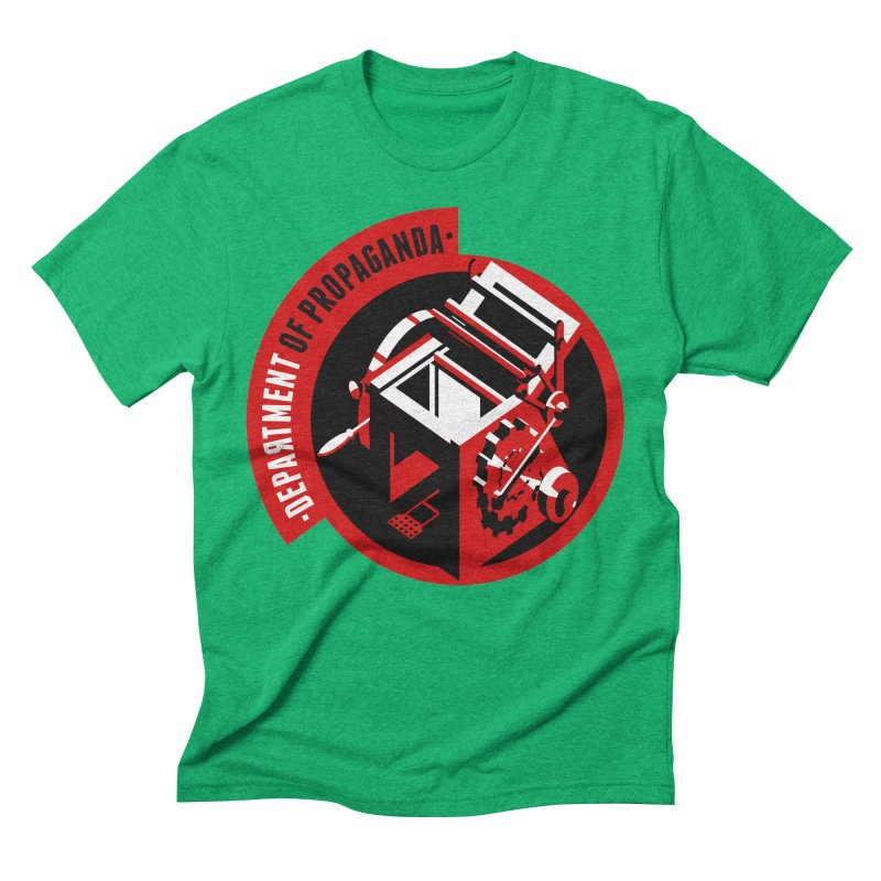 Department of Propaganda Printing Press Men's Triblend T-Shirt by Propaganda Department