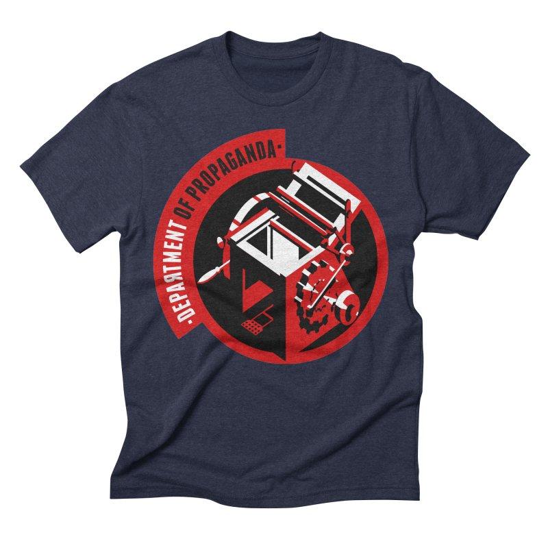 Department of Propaganda Printing Press Men's Triblend T-Shirt by Propaganda Department