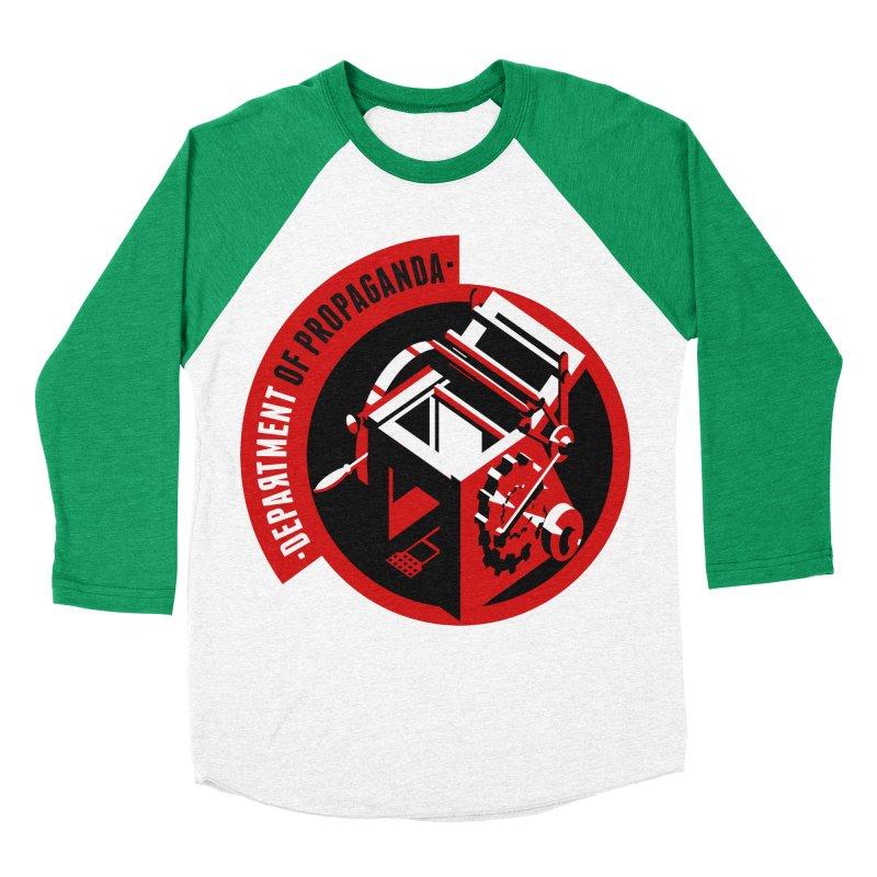 Department of Propaganda Printing Press Women's Baseball Triblend T-Shirt by Propaganda Department