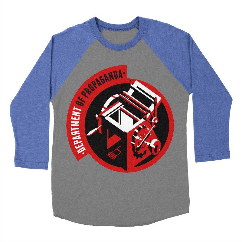Department of Propaganda Printing Press Women's Baseball Triblend Longsleeve T-Shirt by Propaganda Department