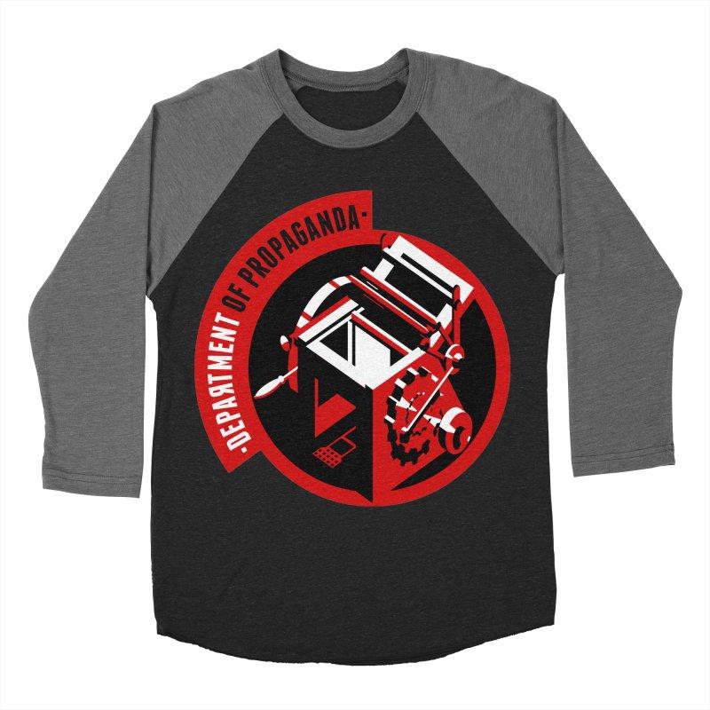 Department of Propaganda Printing Press Men's Baseball Triblend Longsleeve T-Shirt by Propaganda Department