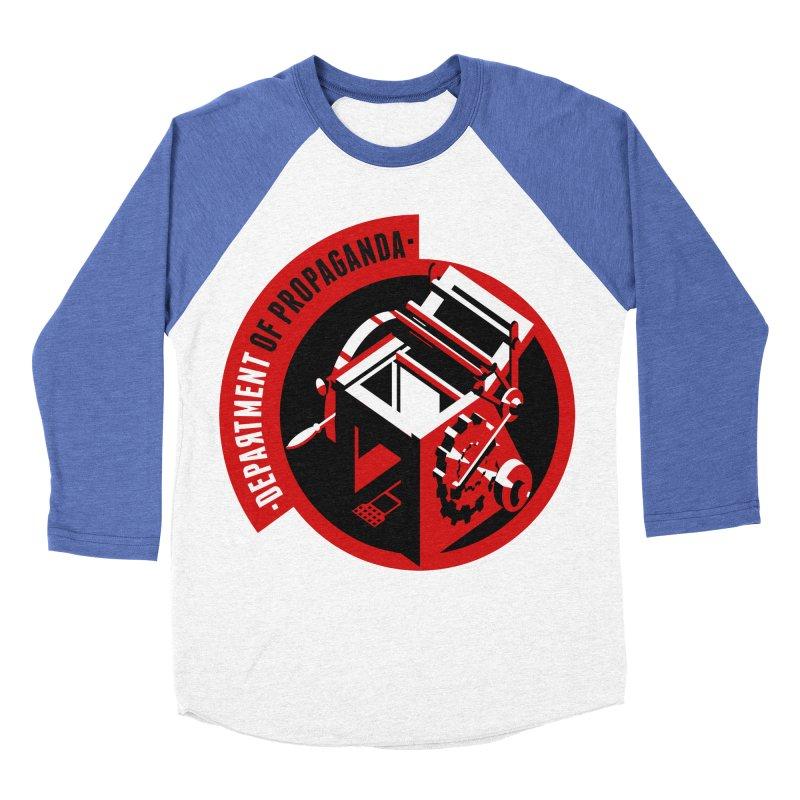 Department of Propaganda Printing Press Men's Baseball Triblend T-Shirt by Propaganda Department