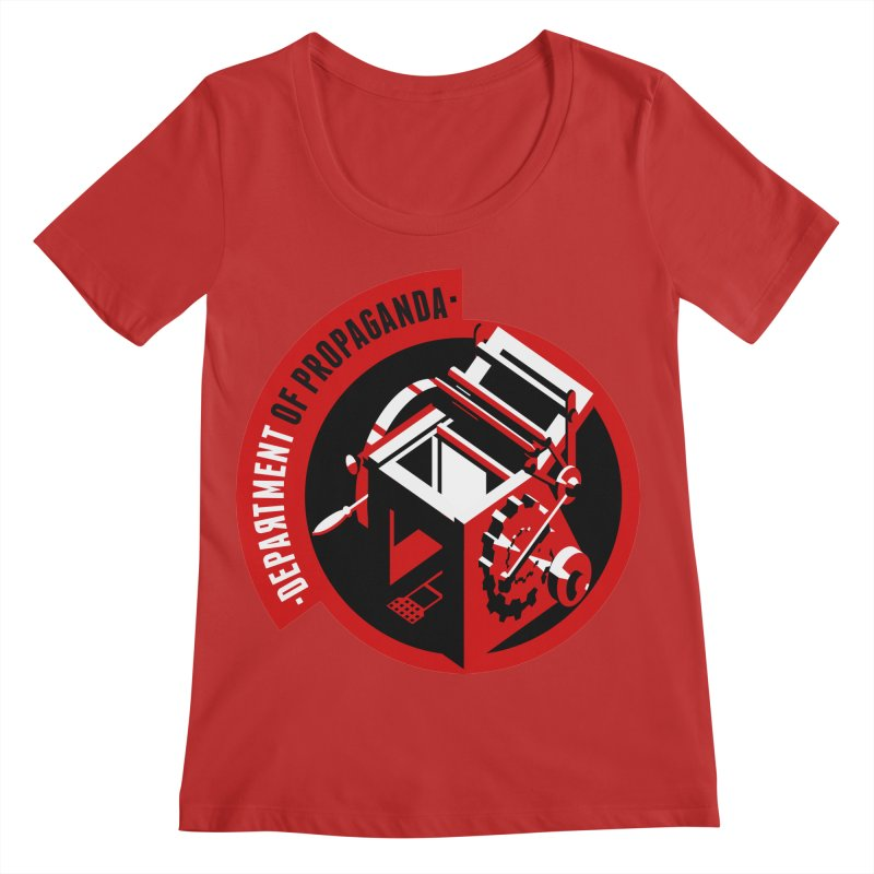 Department of Propaganda Printing Press Women's Regular Scoop Neck by Propaganda Department