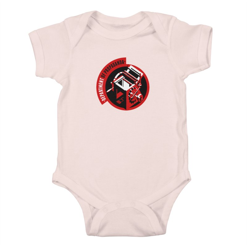 Department of Propaganda Printing Press Kids Baby Bodysuit by Propaganda Department