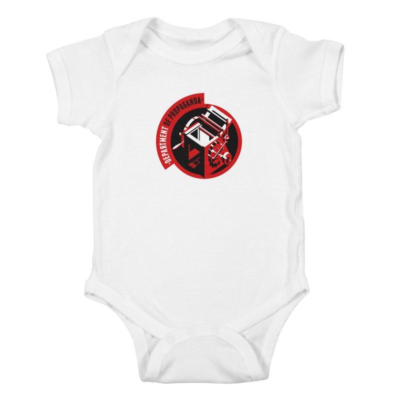 Department of Propaganda Printing Press Kids Baby Bodysuit by Propaganda Department