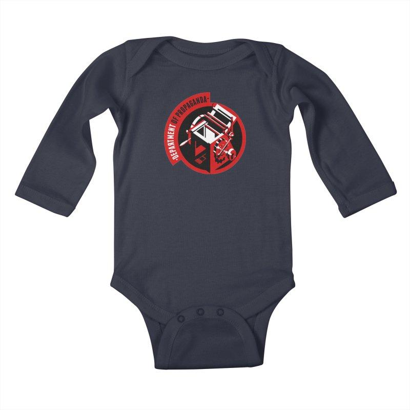 Department of Propaganda Printing Press Kids Baby Longsleeve Bodysuit by Propaganda Department