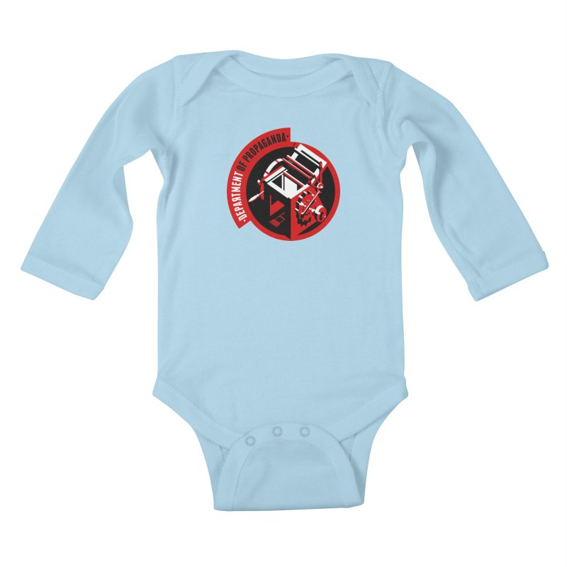 Department of Propaganda Printing Press Kids Baby Longsleeve Bodysuit by Propaganda Department