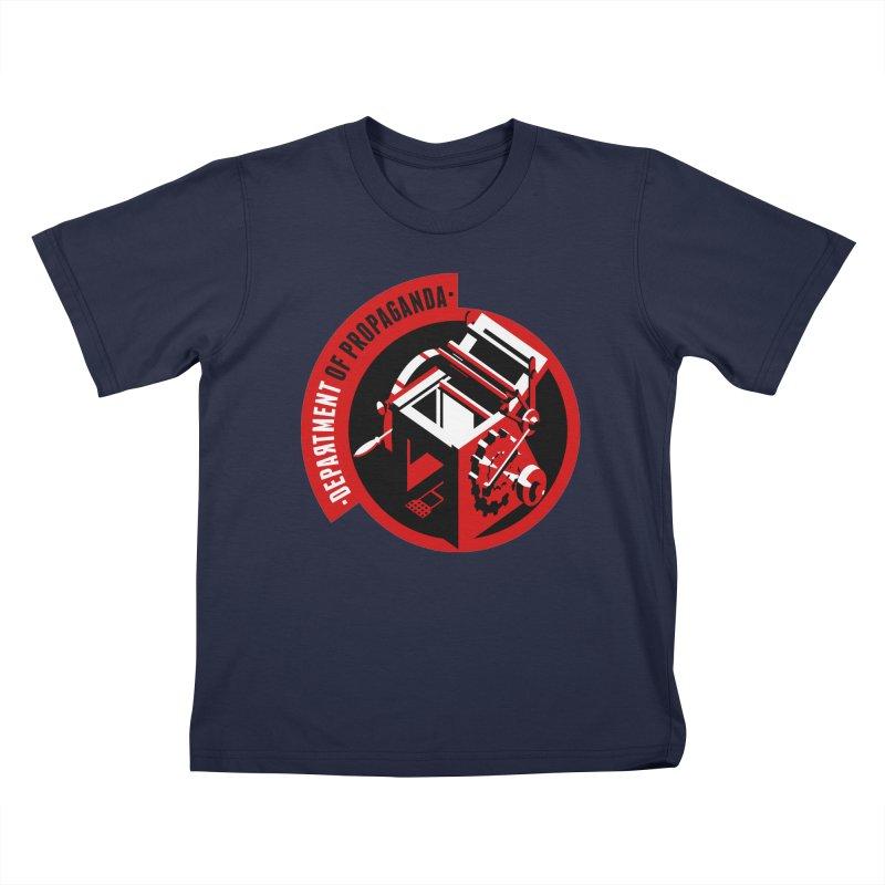 Department of Propaganda Printing Press Kids T-Shirt by Propaganda Department