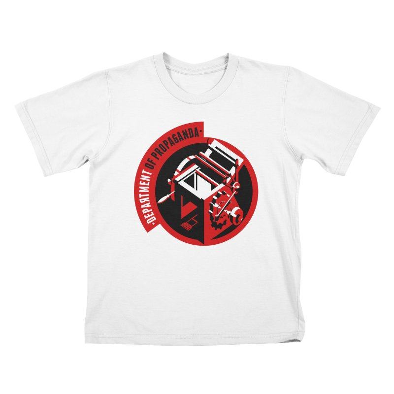 Department of Propaganda Printing Press Kids T-Shirt by Propaganda Department