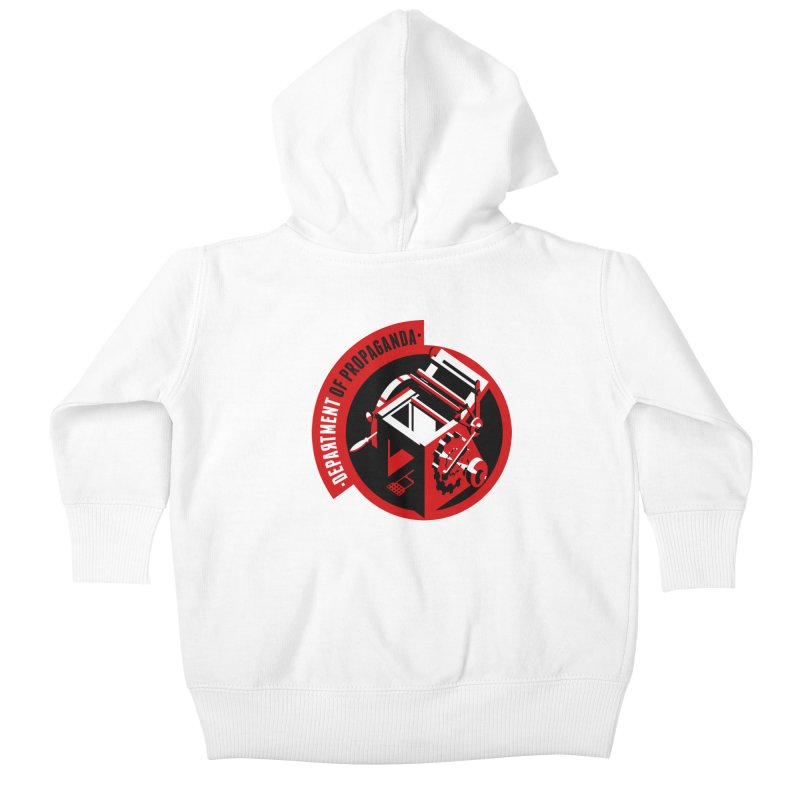 Department of Propaganda Printing Press Kids Baby Zip-Up Hoody by Propaganda Department