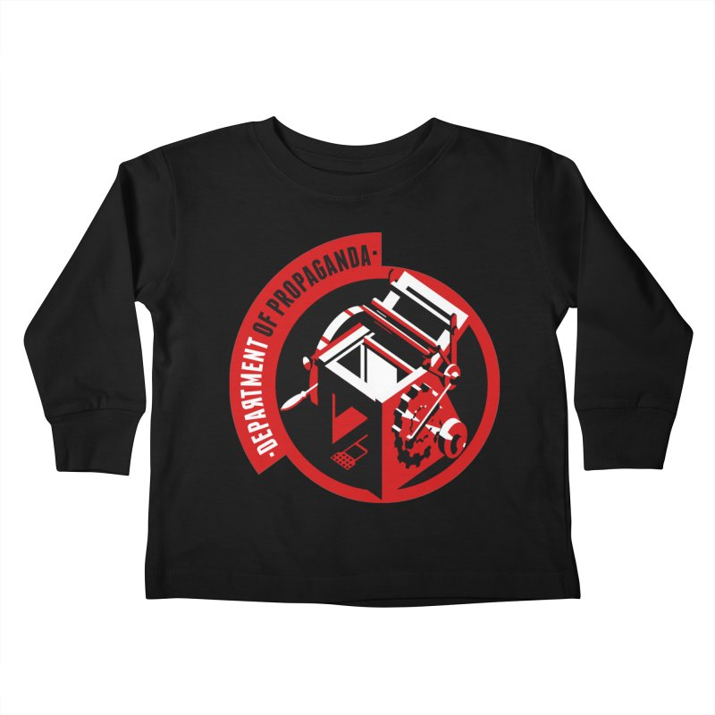 Department of Propaganda Printing Press Kids Toddler Longsleeve T-Shirt by Propaganda Department