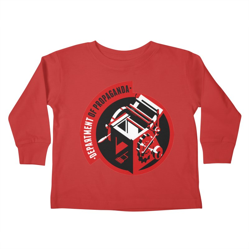 Department of Propaganda Printing Press Kids Toddler Longsleeve T-Shirt by Propaganda Department