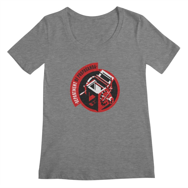Department of Propaganda Printing Press Women's Scoopneck by Propaganda Department