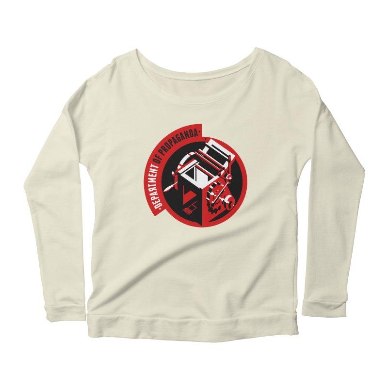 Department of Propaganda Printing Press Women's Scoop Neck Longsleeve T-Shirt by Propaganda Department