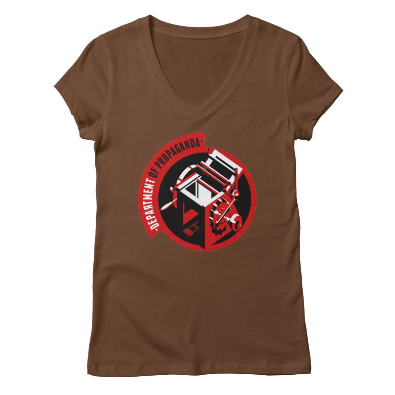 Department of Propaganda Printing Press Women's Regular V-Neck by Propaganda Department