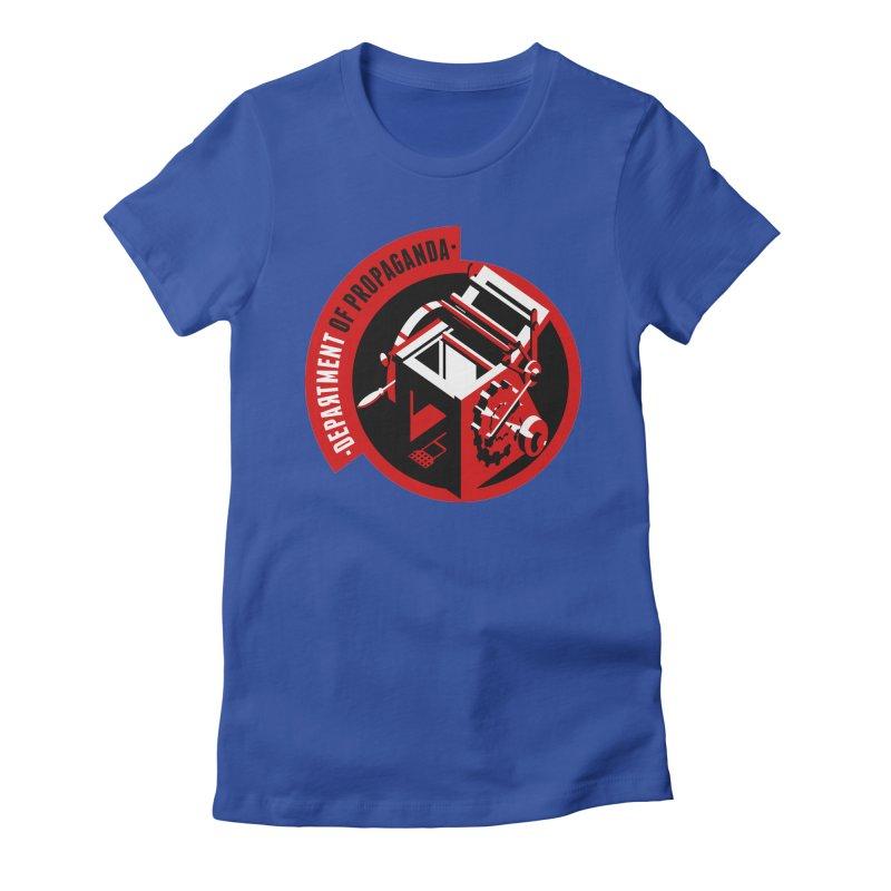 Department of Propaganda Printing Press Women's Fitted T-Shirt by Propaganda Department