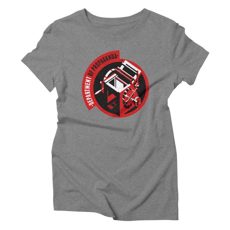 Department of Propaganda Printing Press Women's Triblend T-Shirt by Propaganda Department