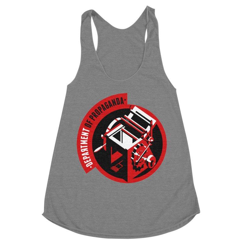 Department of Propaganda Printing Press Women's Racerback Triblend Tank by Propaganda Department
