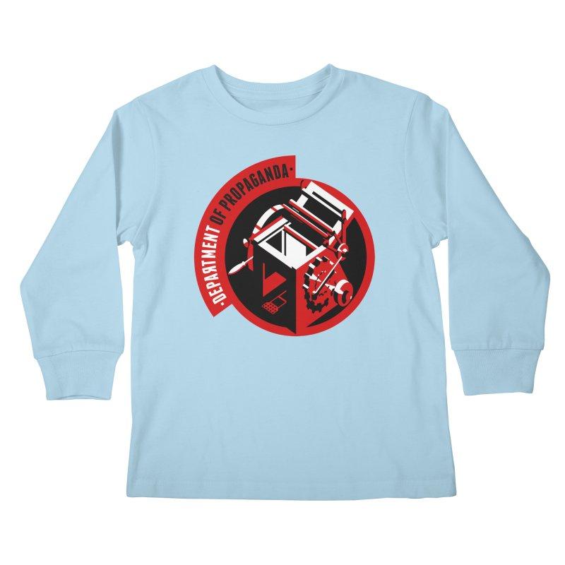 Department of Propaganda Printing Press Kids Longsleeve T-Shirt by Propaganda Department