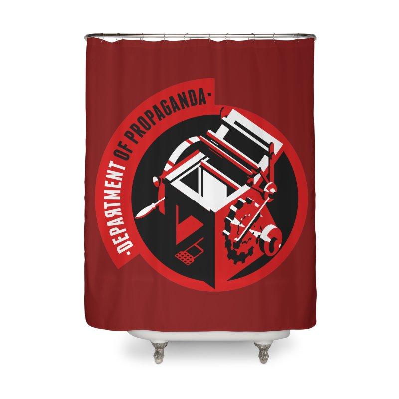 Department of Propaganda Printing Press Home Shower Curtain by Propaganda Department