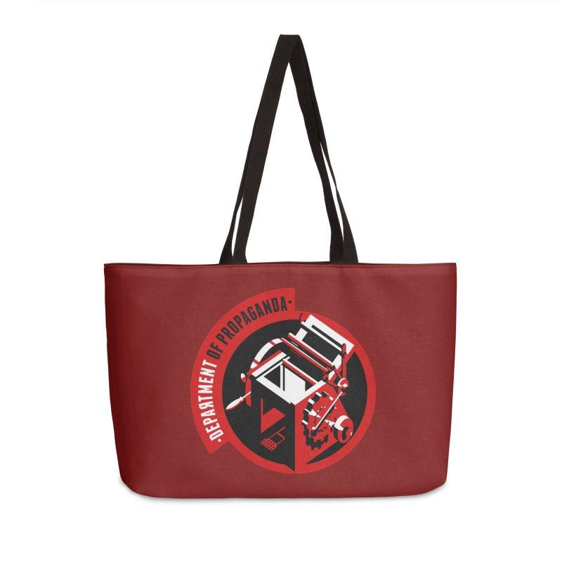 Department of Propaganda Printing Press Accessories Weekender Bag Bag by Propaganda Department