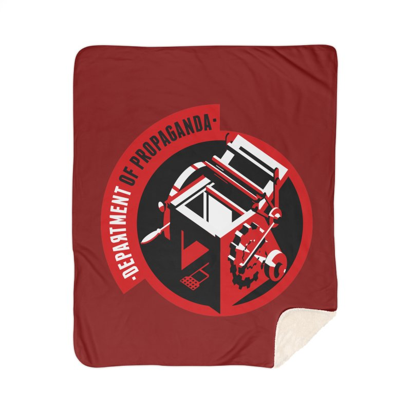 Department of Propaganda Printing Press Home Sherpa Blanket Blanket by Propaganda Department