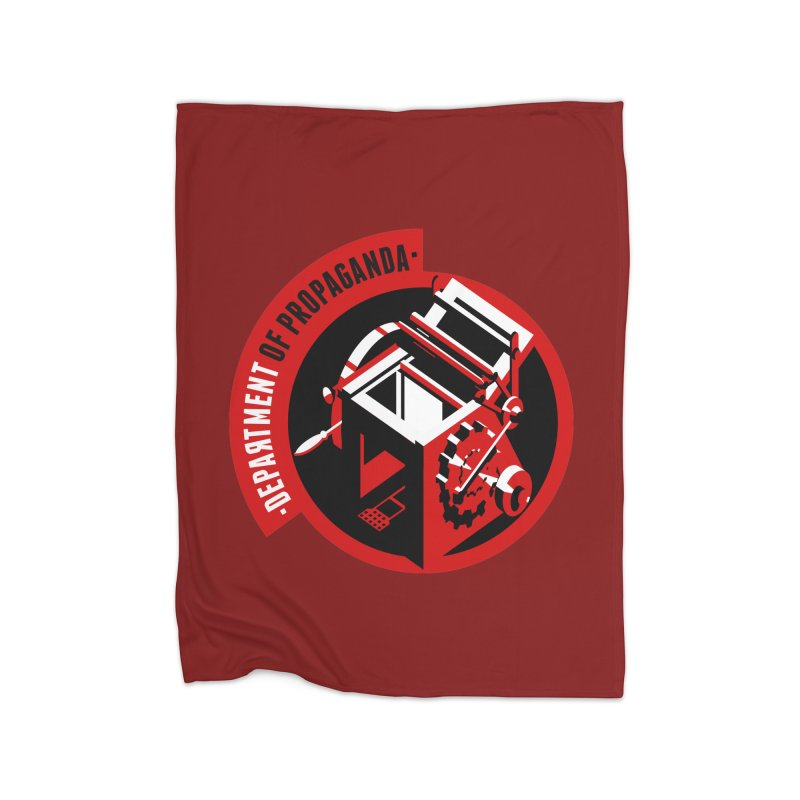 Department of Propaganda Printing Press Home Fleece Blanket Blanket by Propaganda Department