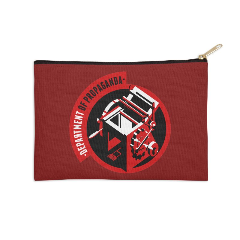 Department of Propaganda Printing Press Accessories Zip Pouch by Propaganda Department