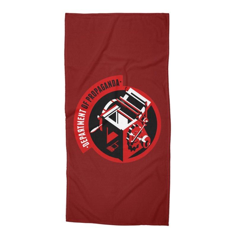 Department of Propaganda Printing Press Accessories Beach Towel by Propaganda Department