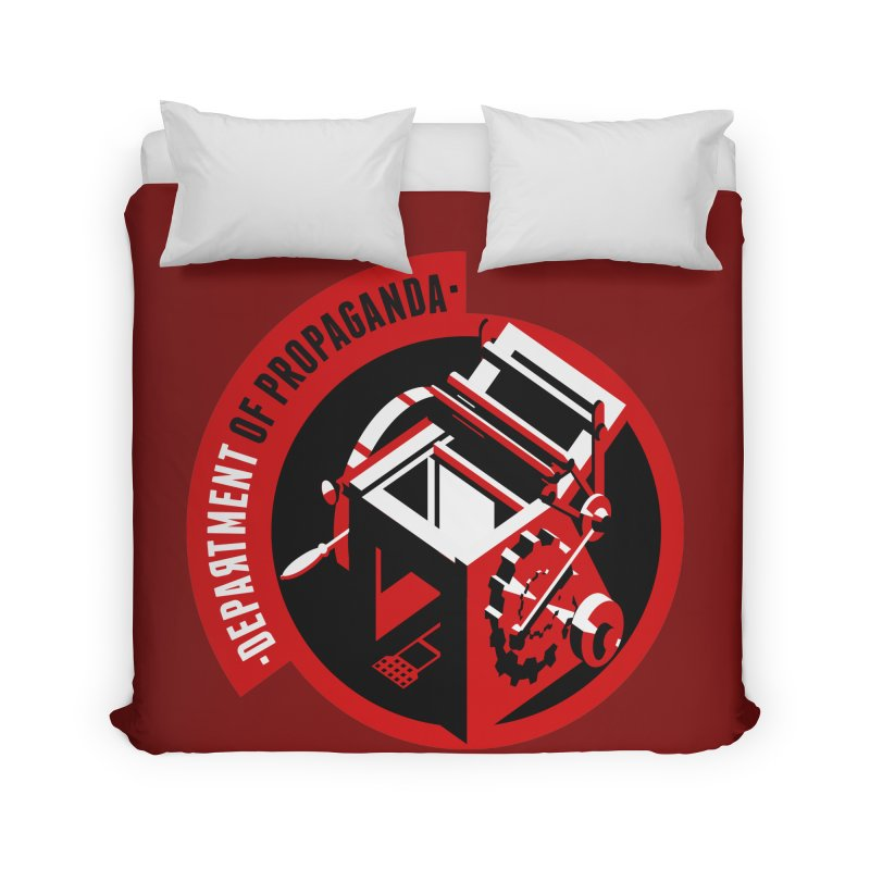 Department of Propaganda Printing Press Home Duvet by Propaganda Department