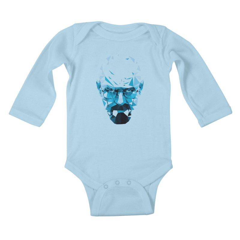 MR. WHITE'S BLUE Kids Baby Longsleeve Bodysuit by Propaganda Department