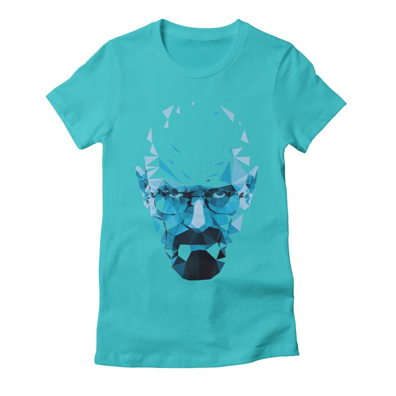 MR. WHITE'S BLUE Women's Fitted T-Shirt by Propaganda Department