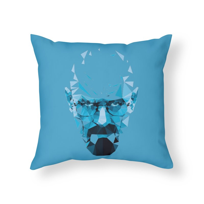 MR. WHITE'S BLUE Home Throw Pillow by Propaganda Department