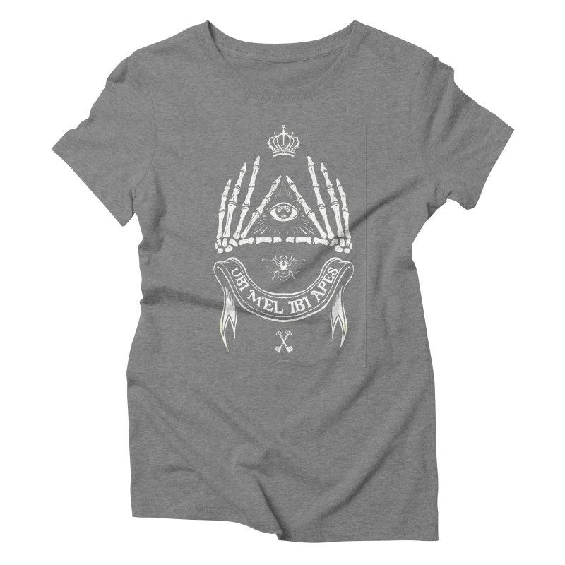 UBI MEL IBI APES Women's Triblend T-shirt by Propaganda Department
