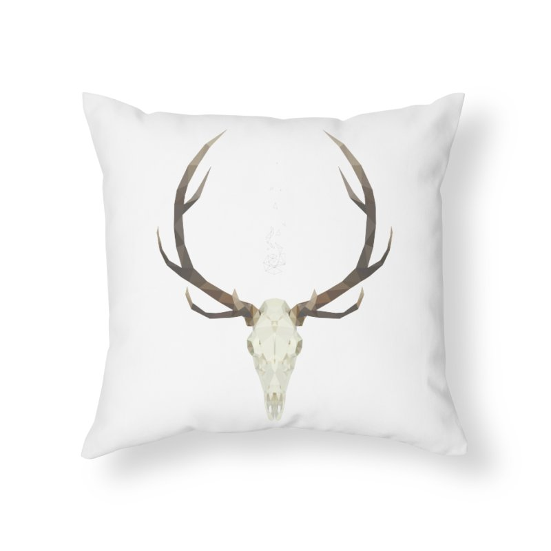 White Stag Home Throw Pillow by Propaganda Department
