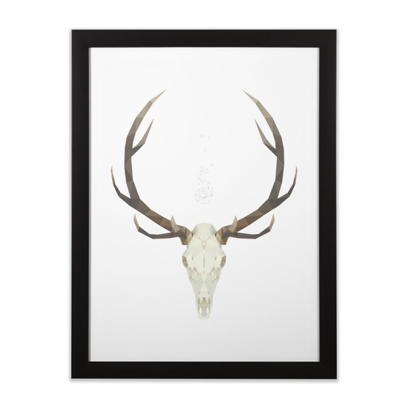 White Stag Home Framed Fine Art Print by Propaganda Department
