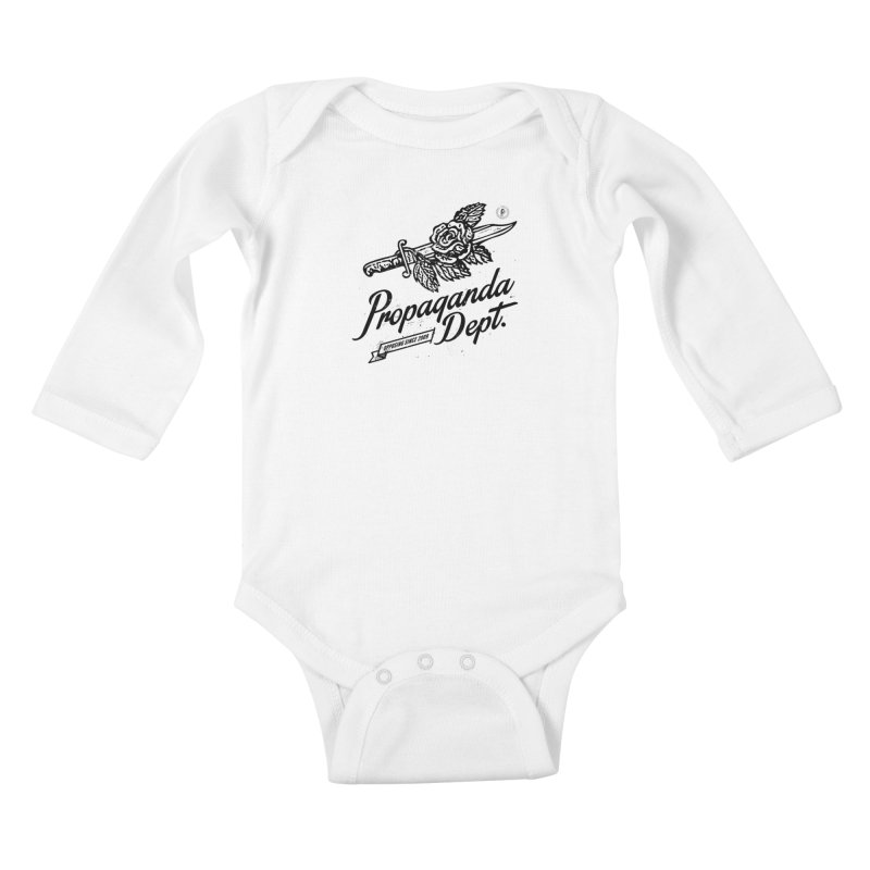 Propaganda Dept. Opposition Kids Baby Longsleeve Bodysuit by Propaganda Department
