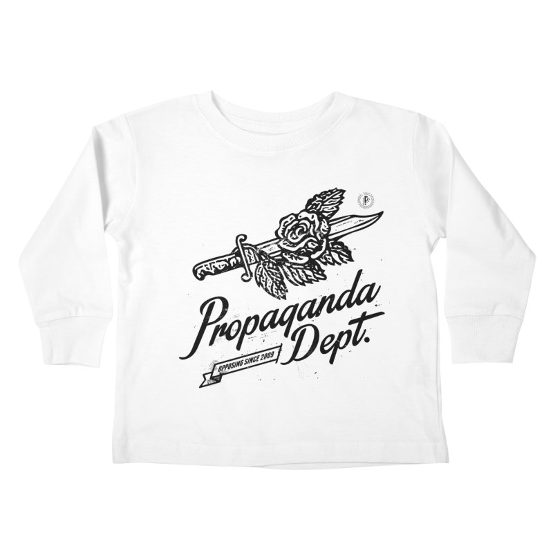 Propaganda Dept. Opposition Kids Toddler Longsleeve T-Shirt by Propaganda Department