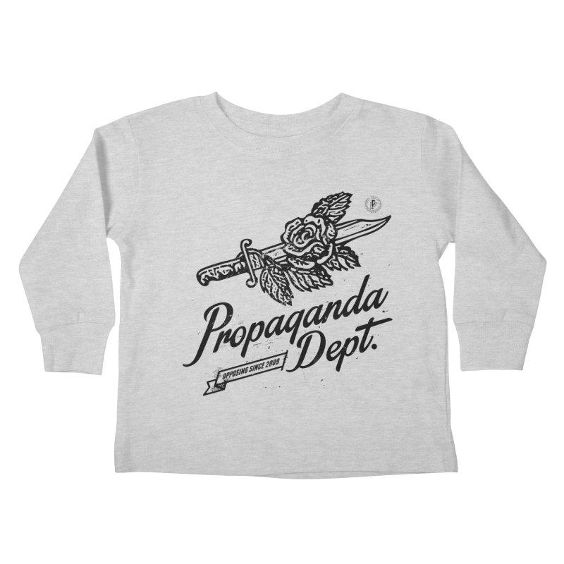 Propaganda Dept. Opposition Kids Toddler Longsleeve T-Shirt by Propaganda Department