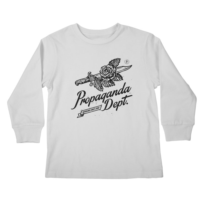 Propaganda Dept. Opposition Kids Longsleeve T-Shirt by Propaganda Department