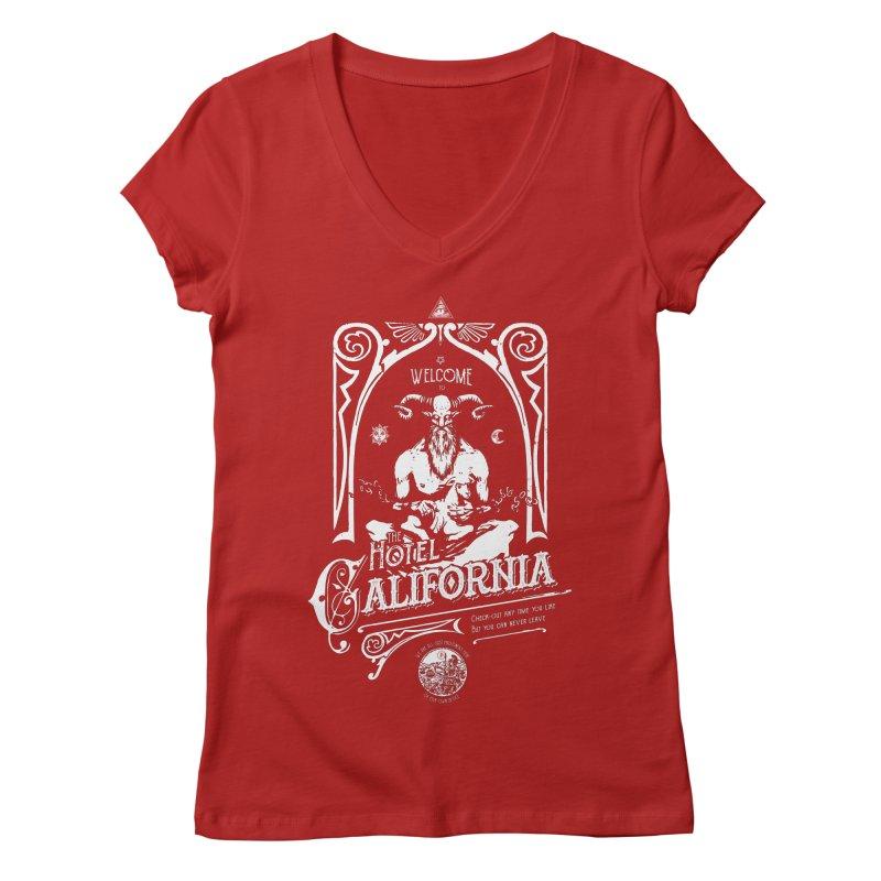 Hotel California Women's V-Neck by Propaganda Department