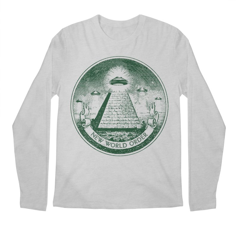 New World Order Men's Regular Longsleeve T-Shirt by Propaganda Department