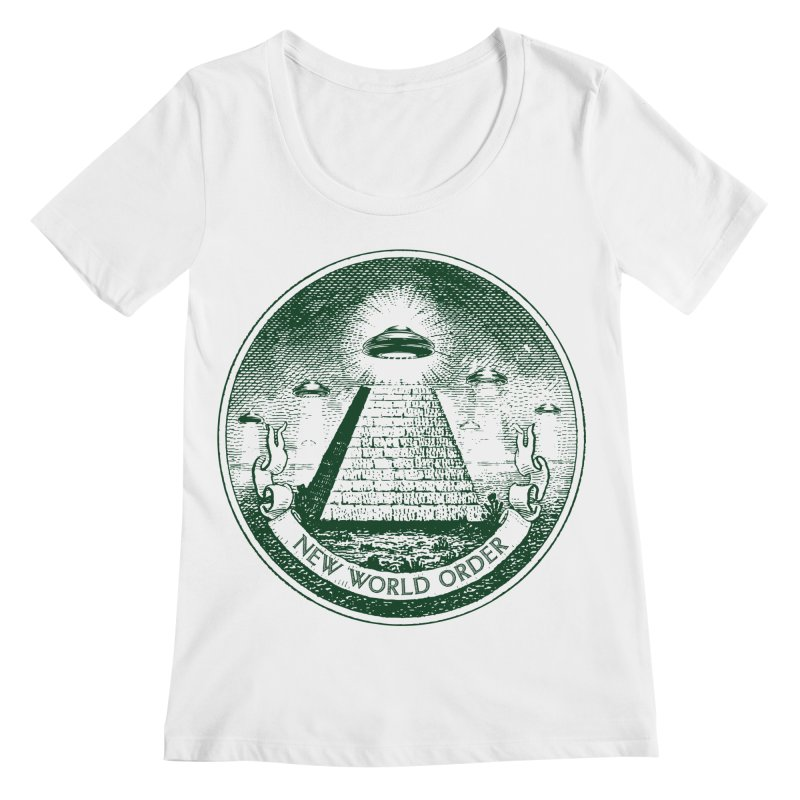 New World Order Women's Regular Scoop Neck by Propaganda Department