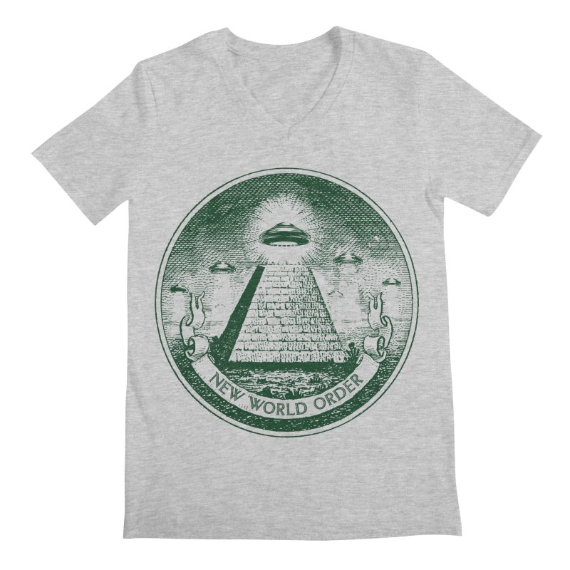 New World Order Men's Regular V-Neck by Propaganda Department