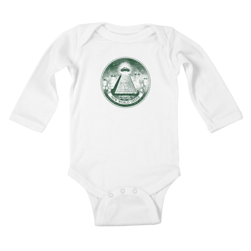 New World Order Kids Baby Longsleeve Bodysuit by Propaganda Department