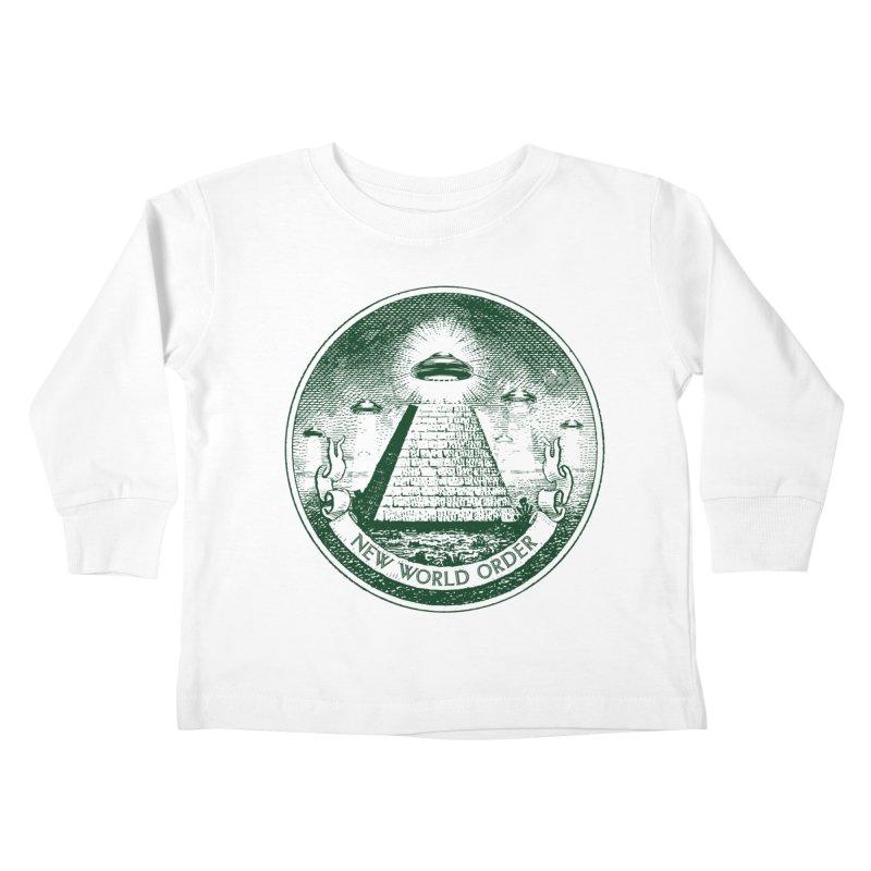 New World Order Kids Toddler Longsleeve T-Shirt by Propaganda Department