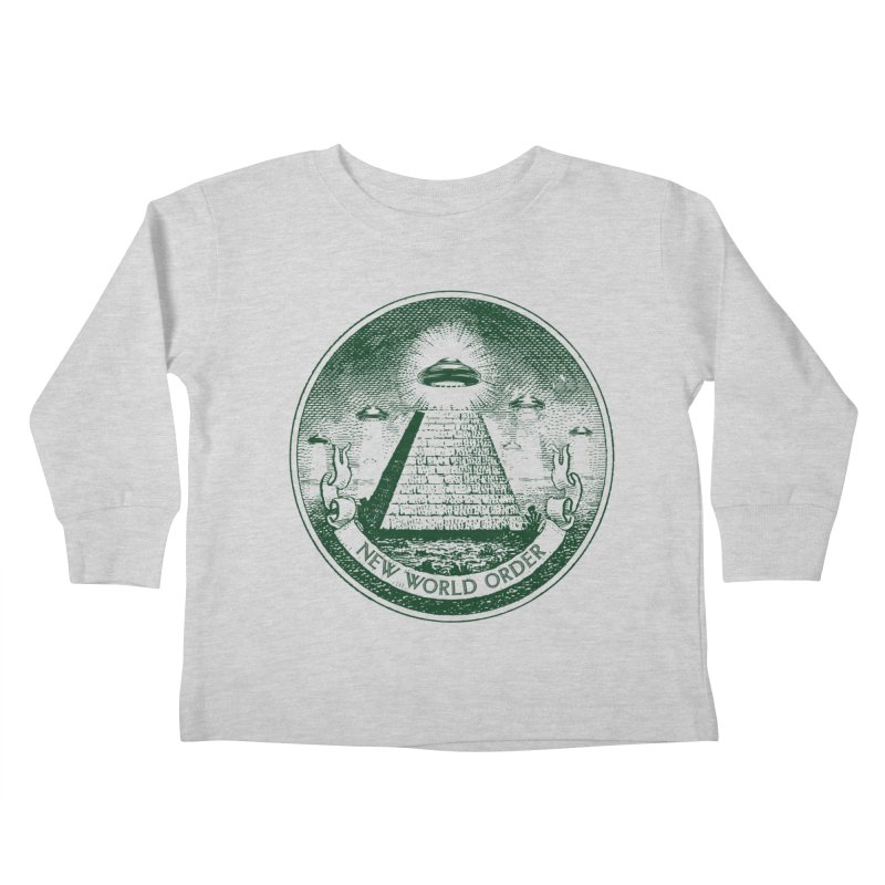 New World Order Kids Toddler Longsleeve T-Shirt by Propaganda Department